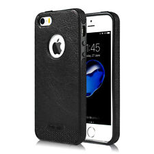 For iPhone 5 5s SE 6 6s 7 7 Plus Case Original Genuine PU Leather Silicone Cover