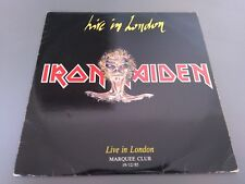 Iron Maiden Live In London Marquee Club 19/12/1985 2LP