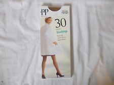 Vintage Pretty Polly 30 denier Stockings, one size/shoe 3-8, colour Highlight