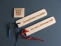 PERSONALISED BOOKMARK-HARDWOOD NOT PLYWOOD-NAMES ADDED-£1.95 each +99p post