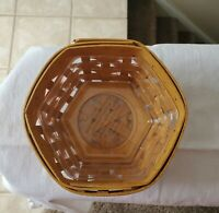 Longaberger 2001 Classic Sage Hostess Booking Hexagon Basket with protector