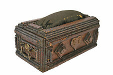 Antique Tramp Art Sewing Box, Flemish.