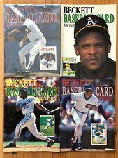 Lot of (38) Beckett Baseball Magazine / Price Guides 1990-1998 - Nolan Ryan