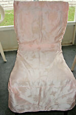 6 Pink Damask Dining Chair Covers Shabby Christmas Wedding Dinner Party