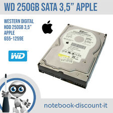 "Apple Western Digital HDD 250gb 3,5"" SATA WD2500JS 655-1259E HDD Desktop TESTED"