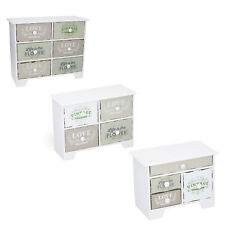Mini Kommode Schränkchen Aufbewahrungsschrank mit entnehmbaren Schubladen Holz