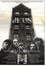 "4/2/95PGN23 SINGLE/TOUR ADVERT 10X7"" DEUS : HOTELLOUNGE (BE THE DEATH OF ME)"