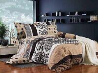 Norway 3pc 100% Cotton Bedding Set:1 Duvet Cover, 2 Pillow Shams,  Queen/King