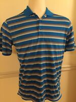 Nike Golf Dri Fit Shirt Men's S/S Polo Short Sleeve Blue Medium 639710 -C Detail