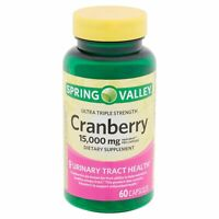 Spring Valley Ultra Triple Strength Cranberry Capsules, 15,000 mg, 60 count