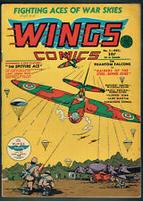 WINGS  COMICS  4   FN/6.0  - Scarce book from 1940 on Fiction House!