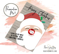 Personalised Hidden Message Card. Xmas Card. Christmas. Surprise Scratch Cards
