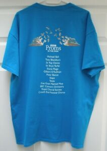 BBC Proms in the Park 2017 Distressed XL Blue T-Shirt 48 Inch Chest