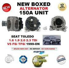 Para Seat Toledo 1.6 1.9 2.0 2.3 TDI V5 FSI TFSI 1999-ON nuevo 150A Alternador Unidad