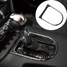For Ford Mustang 2015-2017 Carbon Fiber Console Gear Shift Cover Sticker Trim