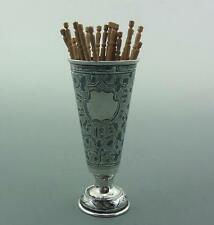 ANTIQUE RUSSIAN SILVER & NIELLO NOVELTY TOOTHPICK HOLDER C1904