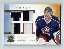 09-10 UD The Cup Foundations  Steve Mason  10/10 Last Card  Quad Patches
