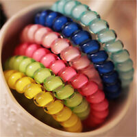 1x/5pcs Telephone Wire Cord Head Rings Hair Band Ponytail Holder Candy-colore SI