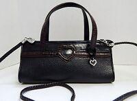Brighton Black Brown Leather Satchel Shoulder Bag