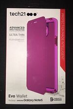 NEW in Box Original Tech21 Samsung Galaxy Note 5 Evo Wallet Flip Cover Case Pink