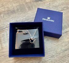 NEW Swarovski Mickey & Minnie Disney Pendant Necklace Rose Gold Tone 5429081