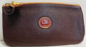 VINTAGE*Dooney & Bourke*Chocolate Brown*Cosmetic/Utility Case/Pouch-Makeup Case