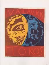"""1989 VINTAGE """"TOROS EN VALLAURIS 1956"""" PICASSO Color offset Lithograph"""
