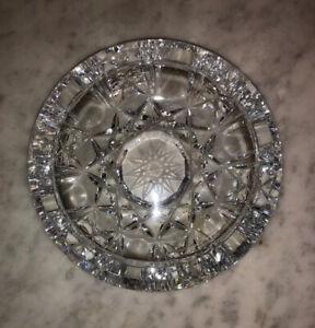 """Antique American Brilliant Period ABP Cut Glass Ashtray Dish 5 1/2"""" - Very Fine"""