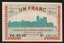 1 FRANC 1920 BEZIERS / FRANCE [SUP XF] Billet de nécessité - chambre de commerce