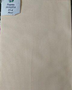 Zweigart Lugana 25count Light Yellow Cross Stitch Fabric High Quality