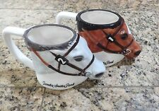 Two Santa Anita Park Figural Horse Head  Mug Coffee Win and Place