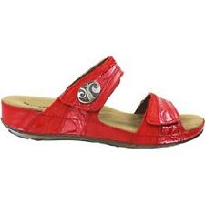 Romika Fidschi Sandals Womens Sz 42 (US 11) Red & Coral Leather Comfy NEW $130