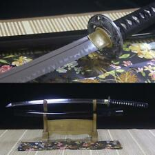 Real Hamon Nihonto Japanese Samurai Sword T10 Steel Clay Tempered Blade Katana