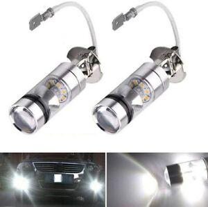 Bopfimer 2Pcs 6000K XENON White LED H3 100W 2323 Car Fog Light Bulb DRL 12v qual