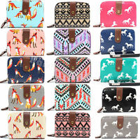Ladies Women Designer Oilcloth Purse Wallet Girls Coin Purse Handbag Bag