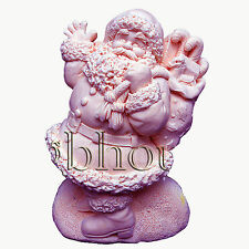 Joyful Santa - Detail of high relief sculpture,silicone mold, soap mold