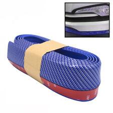 Universal Blue Carbon Fiber Front Bumper Lip Splitter Chin Spoiler Body Kit Trim
