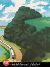 Missouri Pacific Lines Streamliners Locomotives Travel Advertisement Art Poster