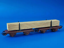 MARKLIN H0 - 4665 - LOG CAR LOADED WITH SQARED TIMBER / LN