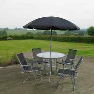 Kingfisher 6 piece garden patio furniture set