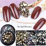 Mixed 3D Nail Art Rhinestones Crystal Gems Jewelry Gold AB Shiny Stones Decor.