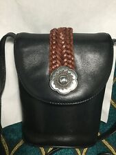 MINT Brighton Black/Brown Leather Crossbody Bag