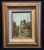 Vintage Oil Painting Signed BALIN, Paris Street Scene (#18)