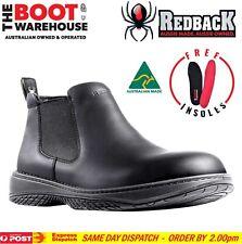 Redback Work Boots RRBN RETRO, Soft Toe, Black Slip-On. CHEFS &  BAR STAFF!