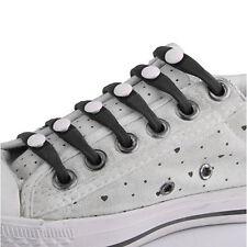 12 Stk Silikon Schnurbänder Schuhsenkel Schuhband Shoelaces Slip On Heiß