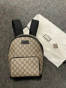 Authentic Gucci GG Supreme Canvas Small Unisex Backpack