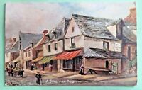 A STREET IN DOL Raphael tuck oilette picture postcards  no.7175 Unposted ppc