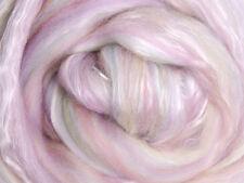 """SILK MERINO Sliver blend by Ashford NZ  """"SORBET""""  for spinning felting 100gms"""
