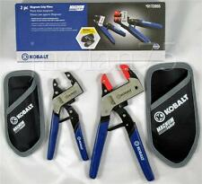 2 Pc Piece KOBALT MAGNUM GRIP Self-Adjusting Plier Pliers Set with HOLSTERS Robo