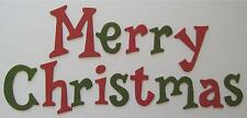 Bazzill *Merry Christmas Title* Chipboard Letters